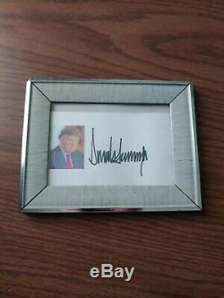 Donald Trump Signed 3 × 5. Index Card, No Coa