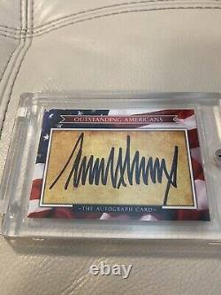 Donald Trump Signed Auto Outstanding Americans Autograph Card 2017