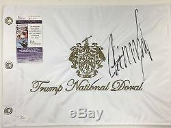 Donald Trump Signed Autograph National Doral Flag Golf 2016 President Jsa Proof
