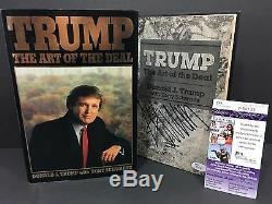 Donald Trump Signed Autograph The Art Of The Deal 1st Edition Book 1987 Jsa Coa