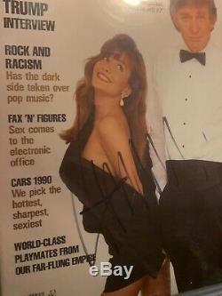Donald Trump Signed Autographed 1990 Playboy Magazine BAS Beckett