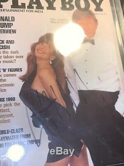 Donald Trump Signed Autographed 1990 Playboy Magazine BAS Beckett