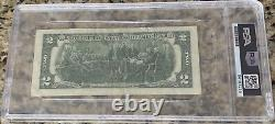 Donald Trump Signed Autographed $2 Two Dollar Bill PSA Slabbed/Encapsulated