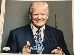 Donald Trump Signed Autographed 8x10 Photo JSA LOA