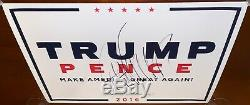 Donald Trump Signed Autographed Campaign Poster
