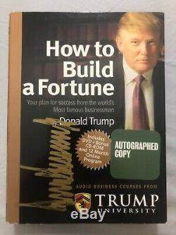 Donald Trump Signed Autographed How To Build A Fortune Trump University DVD