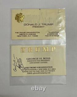 Donald Trump Signed Autographed President Business Card Trump Organization Set