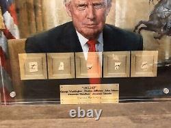 Donald Trump Signed By Washington Lincoln Jefferson Adams Hamilton Jsa Psa Gift