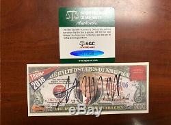 Donald Trump Signed Campaign Note SGC CoA Auto Autograph