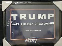 Donald Trump Signed Campaign Sign Framed Autographed PSA Full Letter Authentic