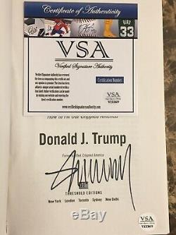 Donald Trump Signed Copy Great Again Book COA