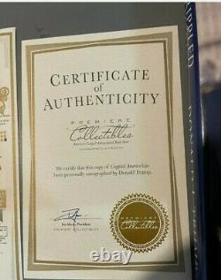 Donald Trump Signed Crippled America First Edition Book With COA Rare 8200/10,000