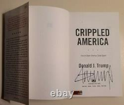 Donald Trump Signed Crippled America Hardcover withCOA