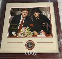 Donald Trump Signed Custom Framed 11x14 President Seal & Michael Jackson 1/1