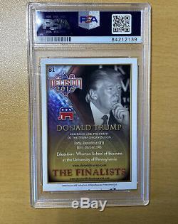 Donald Trump Signed Decision The Finalists Baseball Card PSA COA Encapsulated