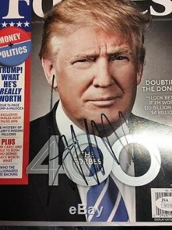Donald Trump Signed Forbes Magazine 2016 Republican President JSA Auth DL2