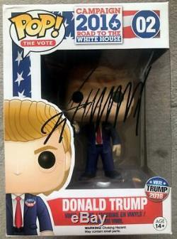 Donald Trump Signed Funko POP COA (Donald Trump Presidential Campaign 2016) #02