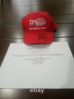 Donald Trump Signed KAG Hat Keep America Great with COA NEW