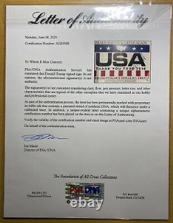Donald Trump Signed MAGA Campaign Sign PSA COA Letter of Authenticity POTUS