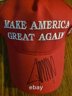 Donald Trump Signed Maga Hat Make America Great 2020 hat NEW COA