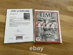 Donald Trump Signed TIME Magazine Psa Coa Autogrpah PSA/DNA