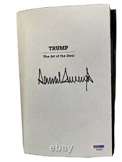 Donald Trump Signed The Art Of The Deal PSA / DNA