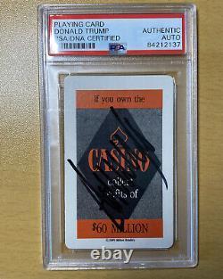 Donald Trump Signed Trump The Game Casino Playing Card PSA COA Encapsulated
