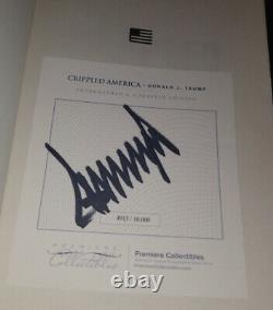 Donald Trump Signed book Crippled America #4913/10000 COA