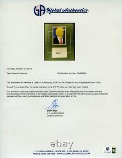 Donald Trump Simpsons Signed Autographed Matted Index Card and Photo COA LOA