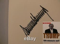 Donald Trump USA Orig. Buch book signed signiert autograph Signatur Autogramm