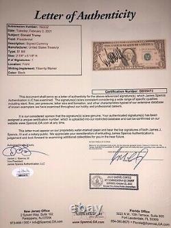 Donald Trump Vintage Signed $1 Dollar Bill President JSA LOA