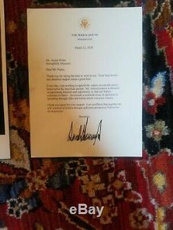 Donald Trump authentic signed autographed letter with picture real plated gold