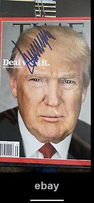 Donald trump signed time magazine JSA Full Letter