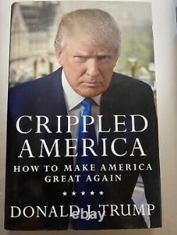 Donald trumped signed Crippled America Signed By Don Jr Eric And Trump
