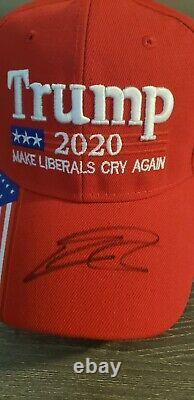 Eric Trump Autographed Signed Make Liberals Cry Again 2020 Hat Donald Jsa Coa