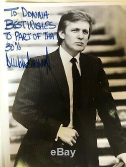Full Signature 1980 President Donald J. Trump Hand Signed 8x10 Photo Autographed