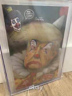 HAHA 1 CGC 9.8 SS Donald Trump Gotham Central Clown VIRGIN Sign & Sketch Parsons