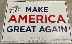 Ivanka Trump Signed Autographed Make America Great Again Campaign Sign Donald