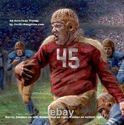 Jon McNaughton ALL-AMERICAN TRUMP 30x45 S/N L/E Canvas Donald Playing Football