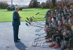 Jon McNaughton YOU ARE FAKE NEWS 24x36 S/N Canvas Donald Trump Media Clowns Art