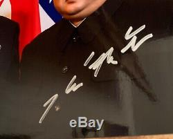 KIM JONG-UN and PRESIDENT DONALD TRUMP DUEL SIGNED PHOTOGRAPH 2018