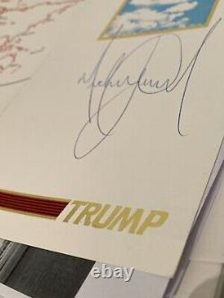 MICHAEL JACKSON SIGNED Donald Trump SAFETY CARD
