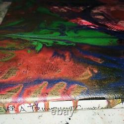 MR CLEVER ART A TRIUMPHANT CLOWN DIAMONDS PAINTING donald trump pop art art deco