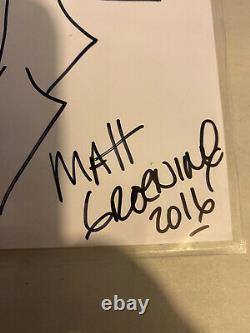 Matt Groening Signed Art Sketch Authentics Drawing President Donald Trump 2016