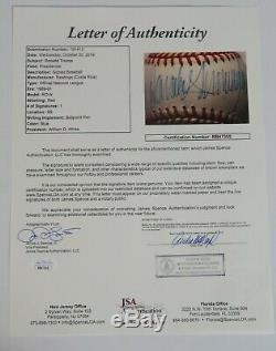 PRES. DONALD TRUMP Signed Autograph Rawlings ONL Baseball Sweet Spot JSA & BAS