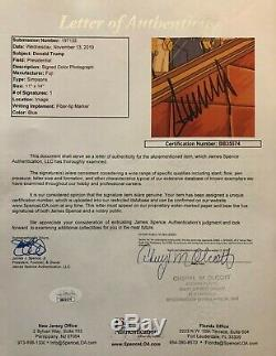 PRESIDENT DONALD J TRUMP REAL AUTOGRAPH SIGNED 11x14 SIMPSONS PHOTO JSA FULL COA