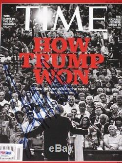 PRESIDENT DONALD TRUMP Hand Signed Time Magazine + PSA DNA COA BUY GENUINE