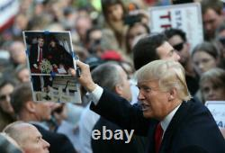PRESIDENT DONALD TRUMP SIGNED FRAMED 8X10 PHOTO With MICHAEL JACKSON PROOF JSA
