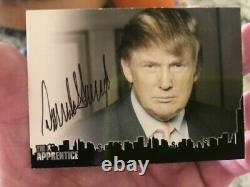 PRESIDENT DONALD TRUMP THE APPRENTICE CARD CERTIFIED AUTOGRAPH 45th President