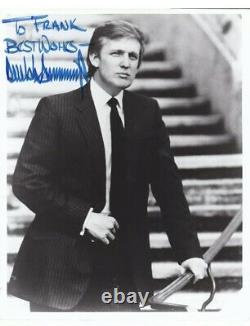 PRESIDENT DONALD TRUMP signature SIGNED Blue Sharpie Frank PHOTO Ink Tested, COA